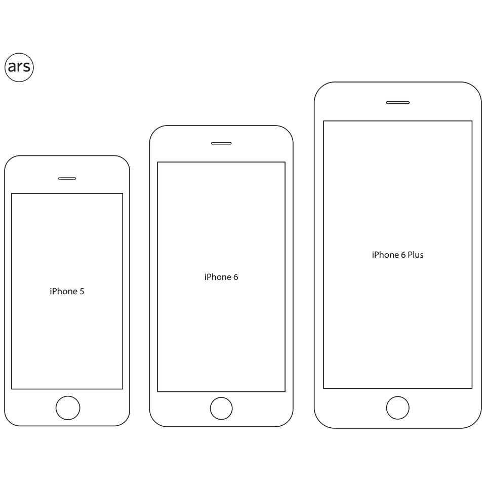 Iphone 6 Plus Actual Size Template